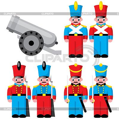 Kinderspielzeug Soldaten | Stock Vektorgrafik |ID 3502138