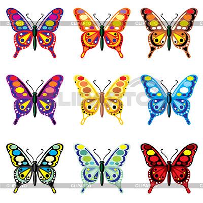 Set von Schmetterlingen | Stock Vektorgrafik |ID 3502142