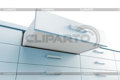 Schrank mit geöffneten Schublade | Illustration mit hoher Auflösung |ID 3576948