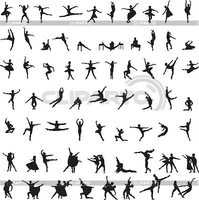 Satz von Silhouetten von Tänzerinnen | Stock Vektorgrafik |ID 3443855