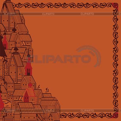 Rahmen im Stil der russischer Folklore | Stock Vektorgrafik |ID 3526197