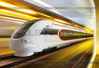 Super streamlined train in tunnel | Foto stockowe wysokiej rozdzielczości |ID 3429931