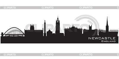 Newcastle, England skyline. Szczegółowa sylwetka | Klipart wektorowy |ID 3493027