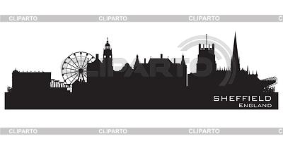 Sheffield, Anglia skyline. Szczegółowa sylwetka | Klipart wektorowy |ID 3493716
