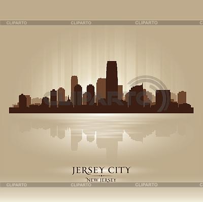 Jersey City, New Jersey Skyline Stadtsilhouette | Stock Vektorgrafik |ID 3548120