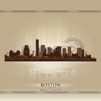 Boston, Massachusetts panoramę miasta sylwetka | Klipart wektorowy |ID 3578564