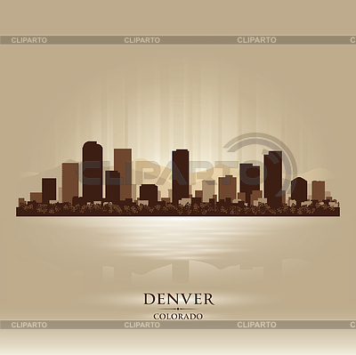 Denver Colorado Skyline Stadtsilhouette | Stock Vektorgrafik |ID 3598321