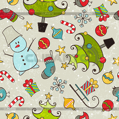 Nahtloses Weihnachtsmuster | Stock Vektorgrafik |ID 3432808