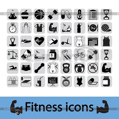 Fitness Icons   Stock Vektorgrafik  ID 3445499