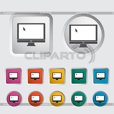 Monitorowanie ikonę | Klipart wektorowy |ID 3511179