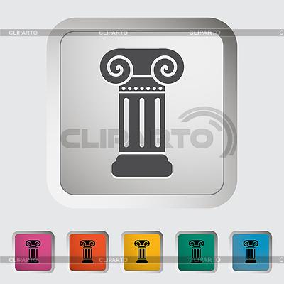 Kolumna pojedyncza ikona | Klipart wektorowy |ID 3703446