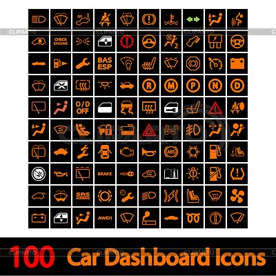 100 Car Dashboard Icons | Stock Vektorgrafik |ID 3703462