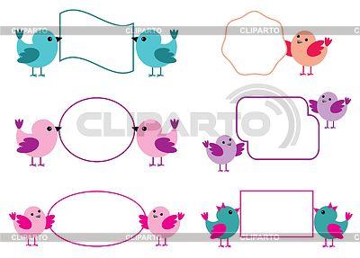 Kleine Vögel halten Papierformulare | Stock Vektorgrafik |ID 3519513