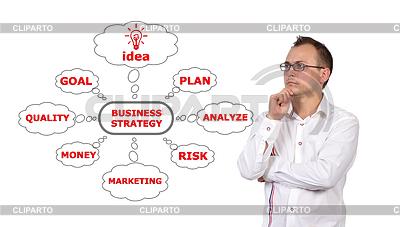 Mensch und Geschäftsstrategie | Foto mit hoher Auflösung |ID 3429132