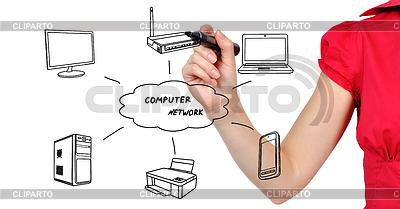 Schema Computernetzwerk | Foto mit hoher Auflösung |ID 3523068