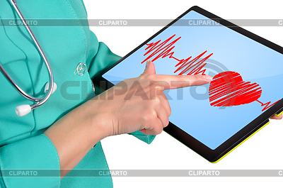 Heartbeat symbol on touchpad | Foto stockowe wysokiej rozdzielczości |ID 3553326
