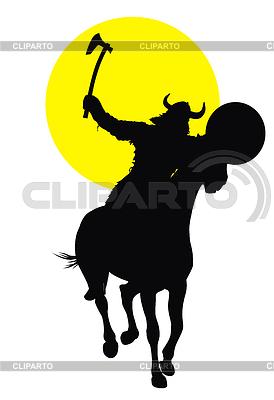 Viking Reiter   Stock Vektorgrafik  ID 3689621