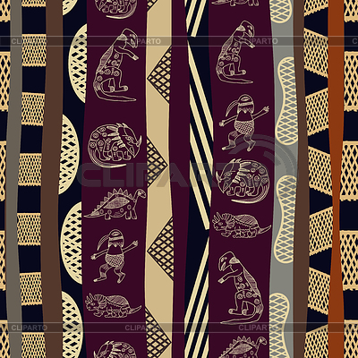 Nahtlose Muster mit Silhouetten von Dinosauriern | Stock Vektorgrafik |ID 3680688