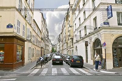 Lane w centrum Paryża. Francja | Foto stockowe wysokiej rozdzielczości |ID 3449237