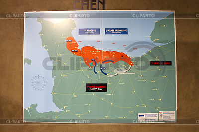 Map of military operations in Museum of Battle of | Foto stockowe wysokiej rozdzielczości |ID 3556465