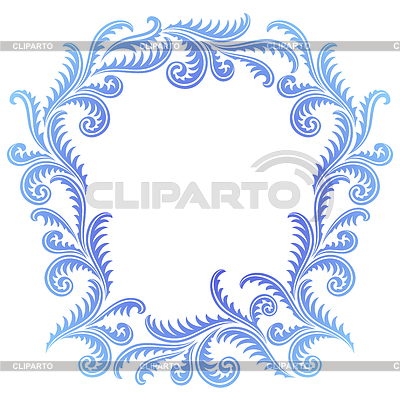 Wzór Frost frame | Klipart wektorowy |ID 3498973
