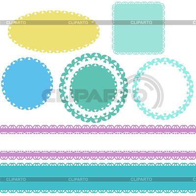 Nahtlose Spitze Grenzen und Etiketten | Stock Vektorgrafik |ID 3519059