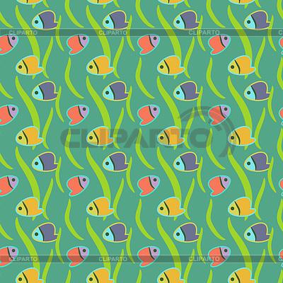 Nahtlose Muster mit tropischen Fischen | Stock Vektorgrafik |ID 3562399