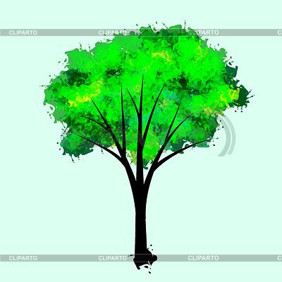 Imitacja farby rysunek drzewa | Klipart wektorowy |ID 3575518