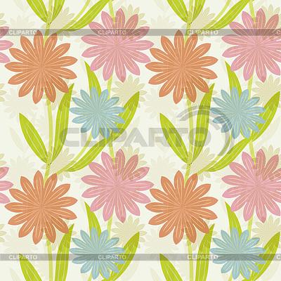 Seamless decorative flowers background | Stockowa ilustracja wysokiej rozdzielczości |ID 3575527