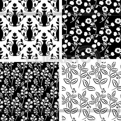 Schwarz-Weiß-Muster-Sammlung | Stock Vektorgrafik |ID 3677928
