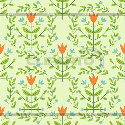 Floral seamless damask pattern | Klipart wektorowy |ID 3701228