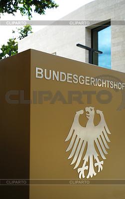 Eingangsschild Bundesgerichtshof Karlsruhe | Foto mit hoher Auflösung |ID 3445938