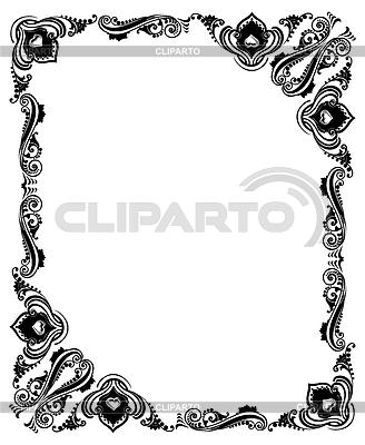 Frame mit wirbelnden dekorative ornament schwarz und weiß