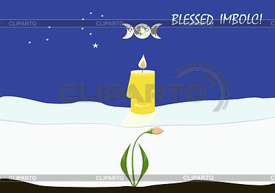 Imbolc oder Lichtmess Grusskarte | Stock Vektorgrafik |ID 3521418