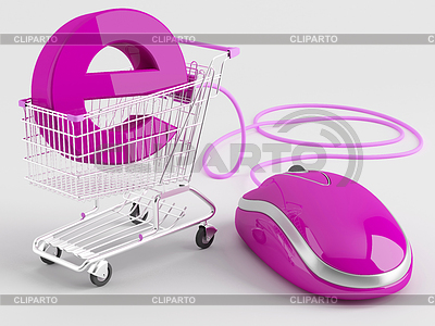 Zakupy przez Internet | Stockowa ilustracja wysokiej rozdzielczości |ID 3389489