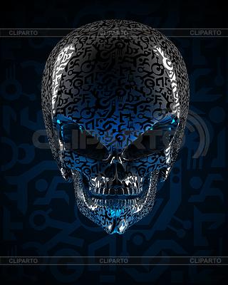 Alien Schädel | Illustration mit hoher Auflösung |ID 3482168