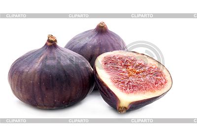 Dwa fig i pokroić | Foto stockowe wysokiej rozdzielczości |ID 3388196