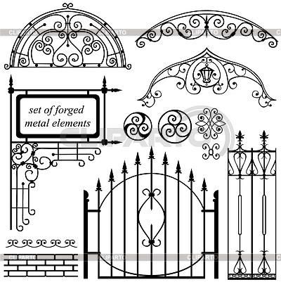 Кованые рисунки над воротами