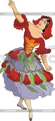 Granatblume - eine Frau als Blume | Stock Vektorgrafik |ID 3493830