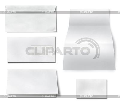 Collection of various blank white paper | Foto stockowe wysokiej rozdzielczości |ID 3538602