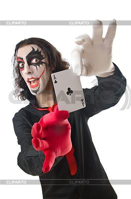 Joker mit Karten | Foto mit hoher Auflösung |ID 3385188