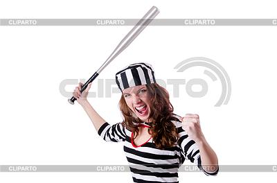 Skazać przestępcę w pasiaku | Foto stockowe wysokiej rozdzielczości |ID 3600368