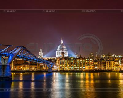 Saint Paul Catherdral in der Nacht in London | Foto mit hoher Auflösung |ID 3675989