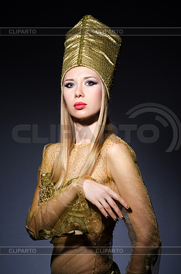 Молодая модель в олицетворение красоты египетские | Фото большого размера |ID 3676586