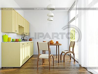 Küche Interieur mit Möbeln | Illustration mit hoher Auflösung |ID 3699294