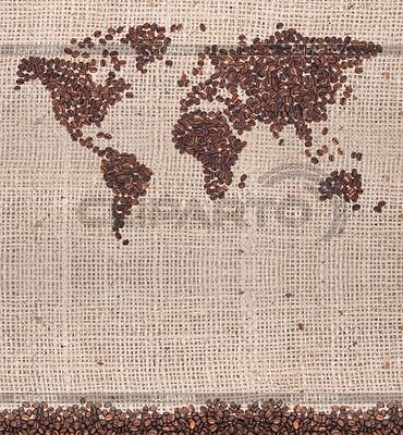 Coffee map | Foto mit hoher Auflösung |ID 3393048