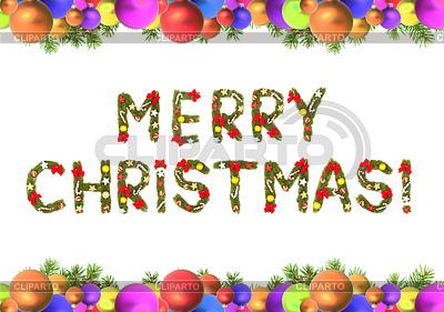 Weihnachtskarte mit Weihnachten ornamen | Foto mit hoher Auflösung |ID 3394637