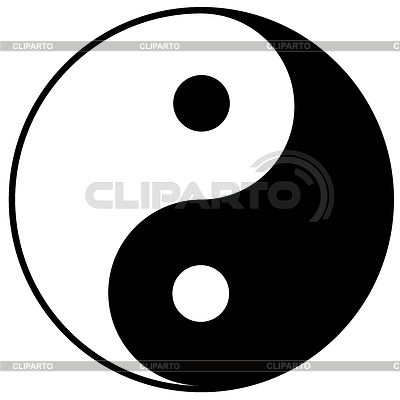 Symbol yin-yang | Klipart wektorowy |ID 3386902
