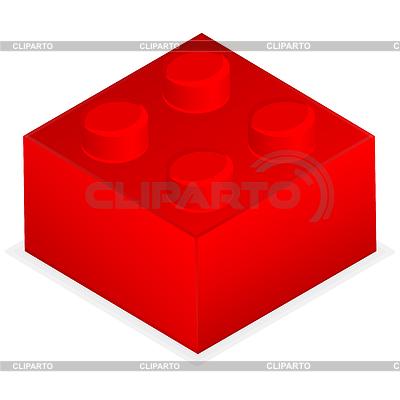 Roter Kunststoff-Baustein | Stock Vektorgrafik |ID 3689799
