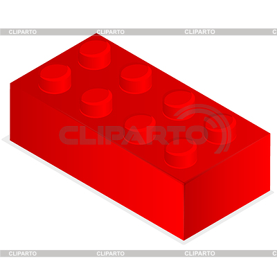 Roter Kunststoff-Baustein | Stock Vektorgrafik |ID 3698780